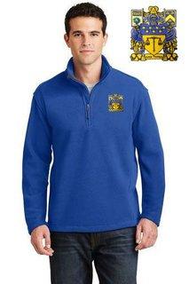DISCOUNT-Delta Upsilon Emblem 1/4 Zip Pullover
