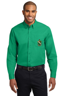 DISCOUNT-FarmHouse Fraternity Crest - Shield Long Sleeve Oxford