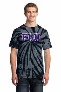 DISCOUNT-FIJI Fraternity Essential Tie-Dye Lettered Tee