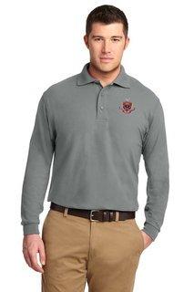 DISCOUNT-FIJI Fraternity Emblem Long Sleeve Polo