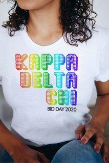 Kappa Delta Chi Pixel Tee - Comfort Colors