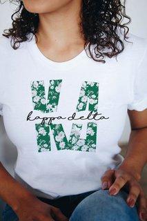 Kappa Delta Floral Big Lettered T-Shirt