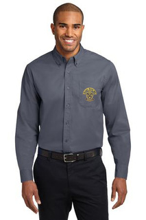 DISCOUNT-Kappa Delta Phi Crest - Shield Long Sleeve Oxford