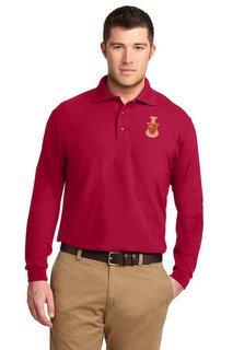 DISCOUNT-Kappa Sigma Emblem Long Sleeve Polo