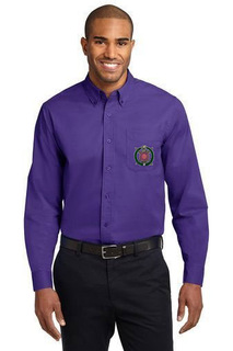 DISCOUNT-Omega Psi Phi Crest - Shield Long Sleeve Oxford