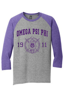 Omega Psi Phi Perfect Tri� 3/4-Sleeve Raglan