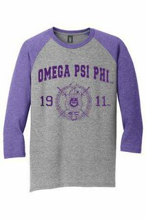 Omega Psi Phi Perfect Tri� 3/4-Sleeve Raglan