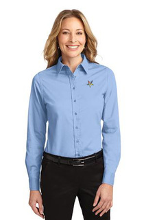 DISCOUNT-Order Of Eastern Star  Crest - Shield Long Sleeve Oxford