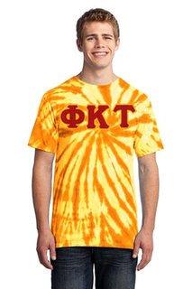 DISCOUNT-Phi Kappa Tau Essential Tie-Dye Lettered Tee