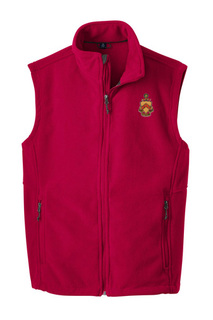 Phi Kappa Tau Fleece Crest - Shield Vest