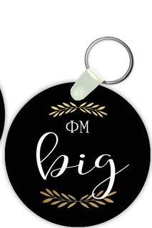 Phi Mu Big Sister Keychain
