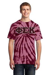 DISCOUNT-Phi Sigma Kappa Essential Tie-Dye Lettered Tee