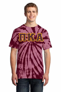DISCOUNT-Pi Kappa Alpha Essential Tie-Dye Lettered Tee