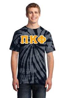 DISCOUNT-Pi Kappa Phi Essential Tie-Dye Lettered Tee