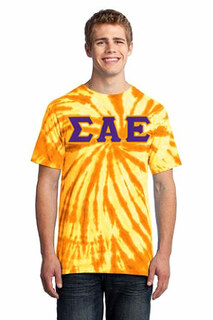 DISCOUNT-Sigma Alpha Epsilon Essential Tie-Dye Lettered Tee
