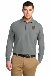 DISCOUNT-Sigma Alpha Epsilon Emblem Long Sleeve Polo