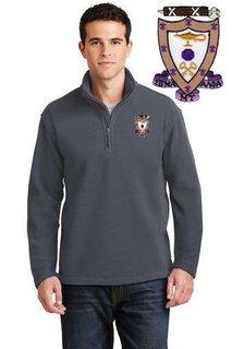 DISCOUNT-Sigma Alpha Mu Emblem 1/4 Zip Pullover