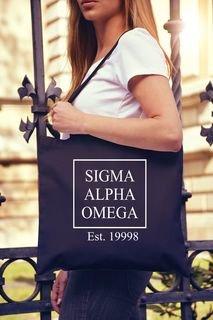 Sigma Alpha Omega Box Tote bag