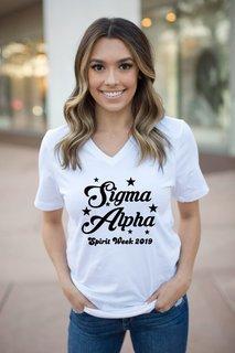 Sigma Alpha Spirit Stars V-Neck