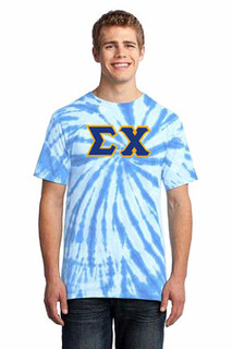 DISCOUNT-Sigma Chi Essential Tie-Dye Lettered Tee