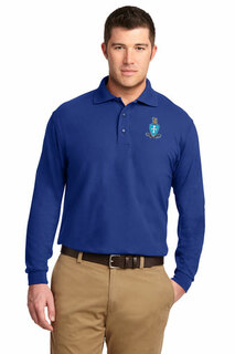 DISCOUNT-Sigma Chi Emblem Long Sleeve Polo