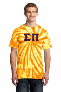 DISCOUNT-Sigma Pi Essential Tie-Dye Lettered Tee