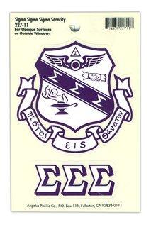 Sigma Sigma Sigma Crest - Shield Decals