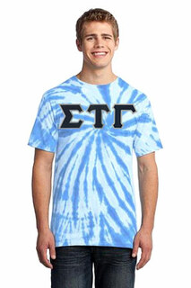 DISCOUNT-Sigma Tau Gamma Essential Tie-Dye Lettered Tee