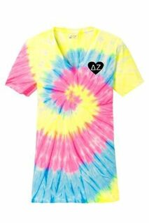 Sorority Tie-Dye V-Neck Tee
