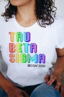Tau Beta Sigma Pixel Tee - Comfort Colors