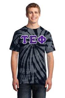 DISCOUNT-Tau Epsilon Phi Essential Tie-Dye Lettered Tee