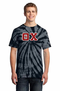 DISCOUNT-Theta Chi Essential Tie-Dye Lettered Tee