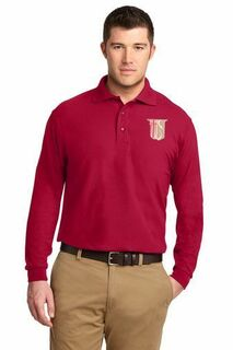 DISCOUNT-Theta Chi Emblem Long Sleeve Polo