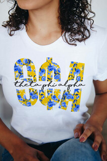 Theta Phi Alpha Floral Big Lettered T-Shirt