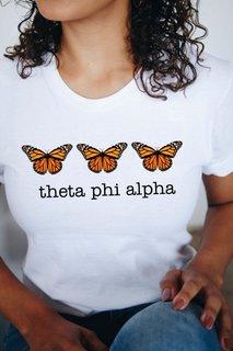 Theta Phi Alpha Monarch Butterfly Short Sleeve T-Shirt - Comfort Colors