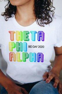 Theta Phi Alpha Pixel Tee - Comfort Colors