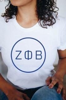Zeta Phi Beta Circle Comfort Colors Tee