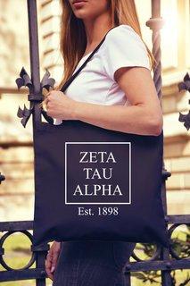 Zeta Tau Alpha Box Tote Bag