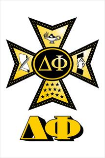 Delta Phi Crest - Shield Window Decals Stickers