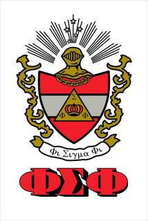 Phi Sigma Phi Crest - Shield Window Decals Stickers