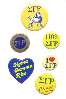 Sigma Gamma Rho Sorority Buttons 6 Pack