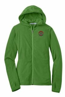 DISCOUNT-Alpha Chi Omega Crest - Shield Patch Ladies Microfleece Hoodie