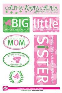 Alpha Kappa Alpha  Family Sticker Sheet