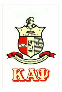 Kappa Alpha Psi Crest - Shield Decal