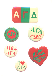 Alpha Gamma Delta Sorority Buttons 6-Pack