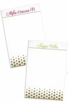Sorority Gold Notepads