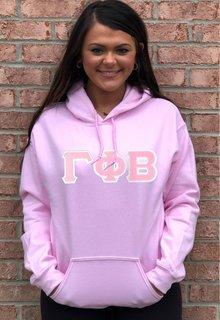 DISCOUNT Gamma Phi Beta Lettered Hooded Sweatshirt