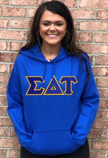 DISCOUNT Sigma Delta Tau Lettered Hooded Sweatshirt