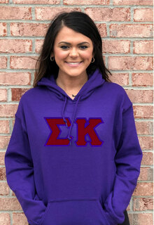 DISCOUNT Sigma Kappa Lettered Hooded Sweatshirt