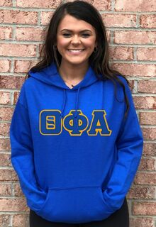DISCOUNT Theta Phi Alpha Lettered Hooded Sweatshirt